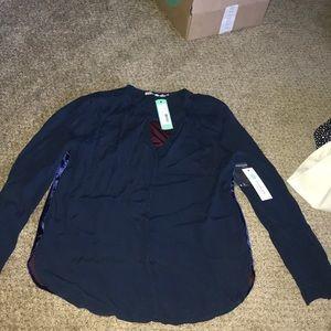 Velvet back blouse